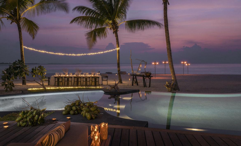 Privatdinner oder Honeymoon auf der Fours Seasons Insel Voavah