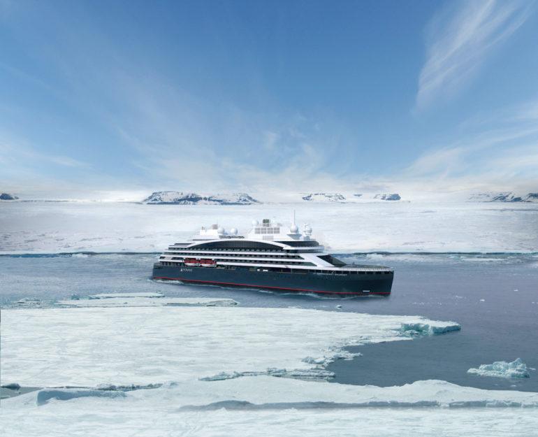 Der neue Eisbrecher von Ponant fährt bis zum Nordpol.