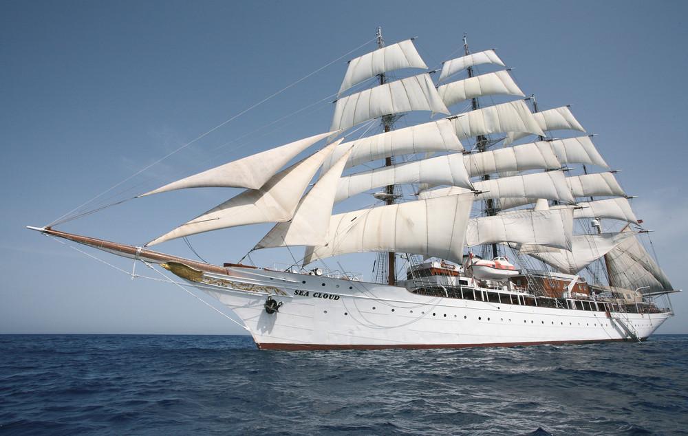 Die Sea Cloud feiert diese Jahr 90 Jahre Segeltouren.